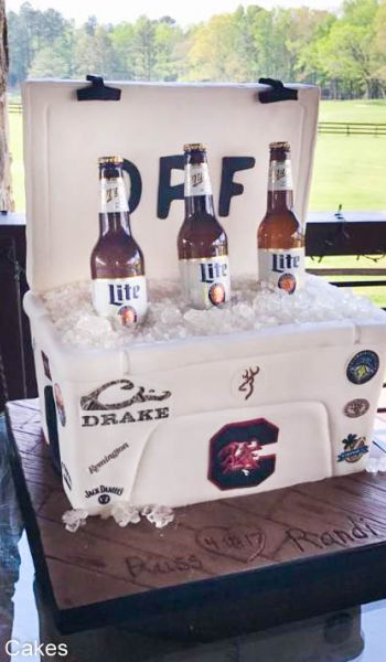 Sculpted South Carolina Gamecocks Beer Cooler Grooms Cake