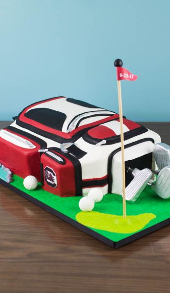 Sculpted South Carolina Gamecocks Golf Bag Grooms Cake