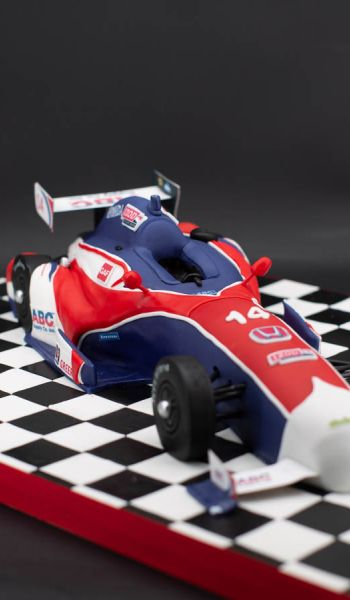 Sculpted F1 Race Car Grooms Cake