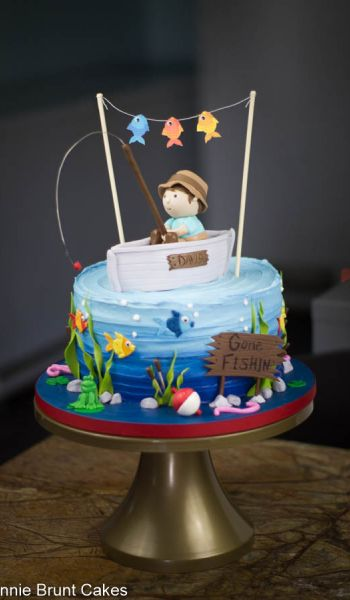 Gone Fishin Birthday Cake