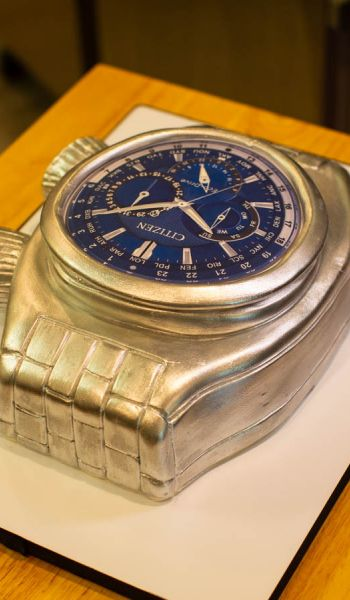 Sculpted Citizen Watch Grooms Cake