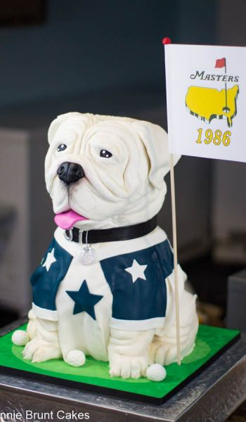 Sculpted Dallas Cowboys Dog Grooms Cake