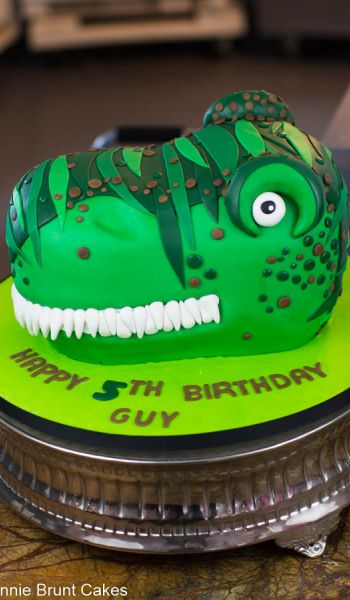 Sculpted T-Rex Birthday Cake