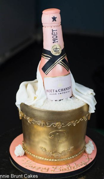 Sculpted Champagne Bucket Birthday Cake