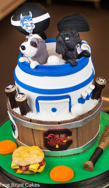 Sculpted Duke Blue Devils Golf Bag Grooms Cake